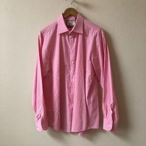 THOMAS PINK white textured slim fit button shirt